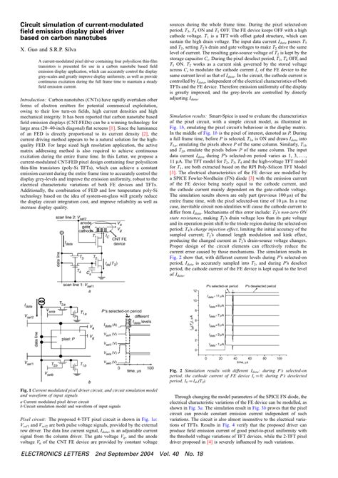 Pdf Circuit Simulation Current Modulated Field
