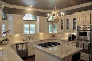 Bianco Romano Granite Countertops - Transitional - kitchen