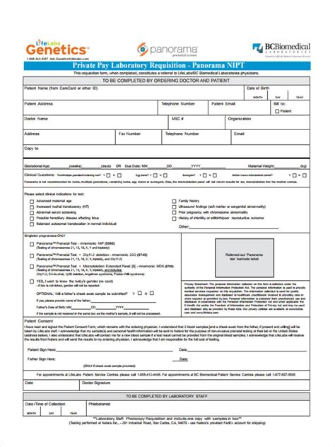 lab requisition form samples   word