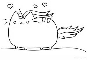 Kawaii Unicorn Coloring Pages Cat