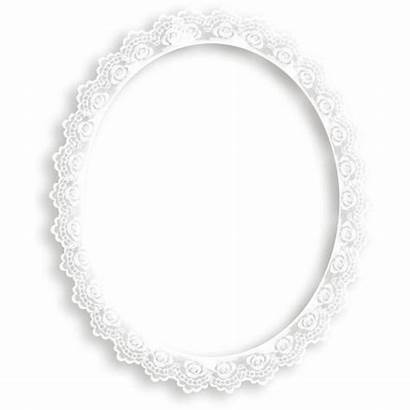 Lace Polyvore Frame Oval Frames Featuring