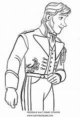 Coloring Hans Frozen Prince Cartonionline sketch template