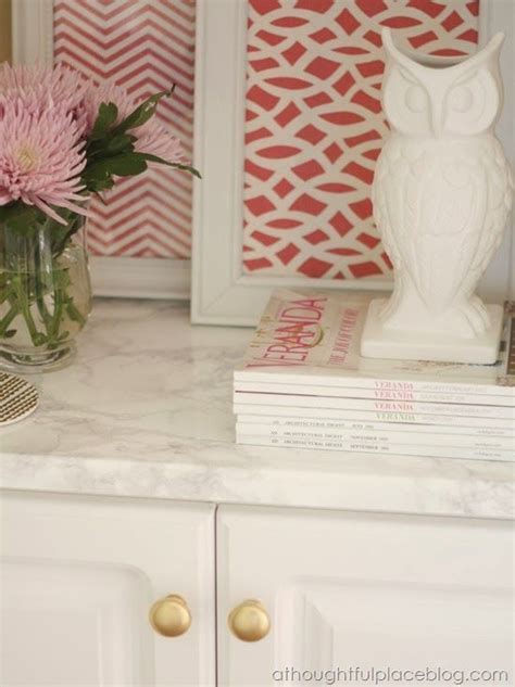 Faux Marble Countertops: Easy Transformation   HOME