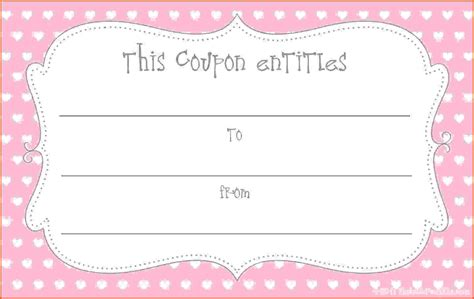 printable coupon template survey template words