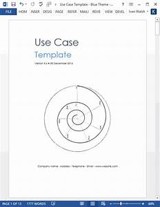 Use Case Template  Ms Word Visio   U2013 Templates  Forms