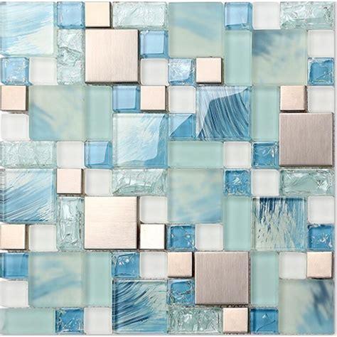 blue glass backsplash blue glass mosaic sheets stainless steel backsplash crackle crystal glass tiles bravotti com