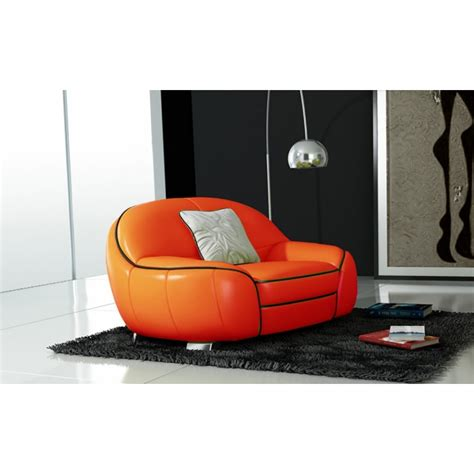 canap cuir orange canapés en cuir design pop design fr