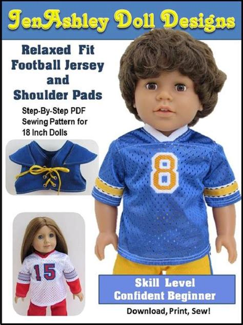 jenashley doll designs relaxed fit football jersey
