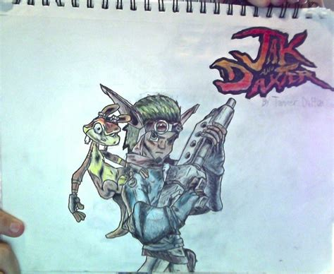 Jakdaxter + Jak And Daxter Logo Drawing(unflipped) By