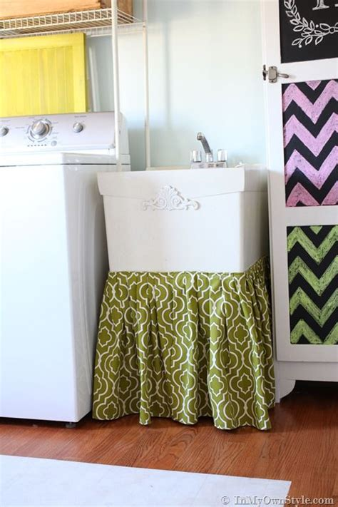 no sew utility sink skirt sink skirt sinks and storage on