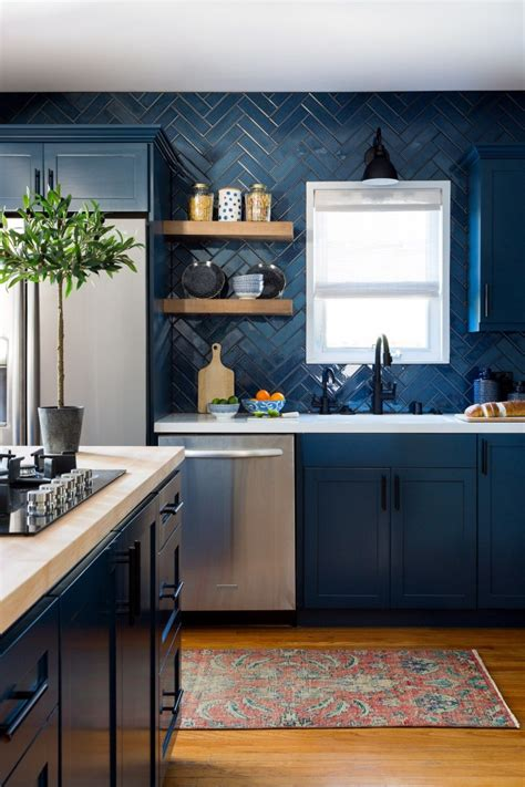 classic blue kitchen cabinets centsational style