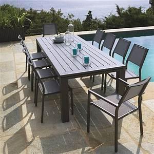 Table De Jardin Promo : table de jardin promo table exterieur aluminium maison boncolac ~ Teatrodelosmanantiales.com Idées de Décoration