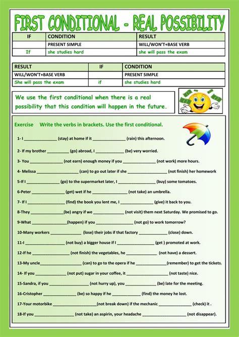 conditional interactive  downloadable worksheet