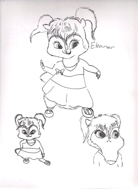 chipette eleanor coloring pages coloring home
