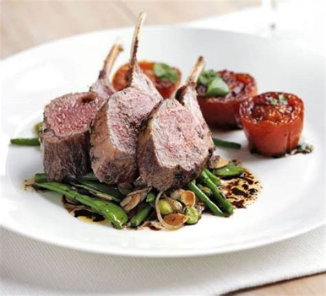 gordon ramsay cuisine cool rack of with warm salad of mixed beans roast tomatoes recipe food