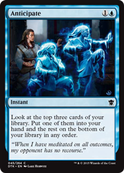 Spell Anticipate anticipate instant cards mtg salvation