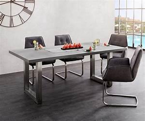 Hängeleuchten Esstisch Modern : esszimmertisch crudo grau 200x100 beton gestell edelstahl breit esstisch ~ Orissabook.com Haus und Dekorationen