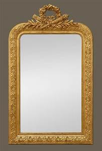 Miroir Doré Ancien : miroir ancien dor coquille noeud carquois et flambeau ~ Teatrodelosmanantiales.com Idées de Décoration