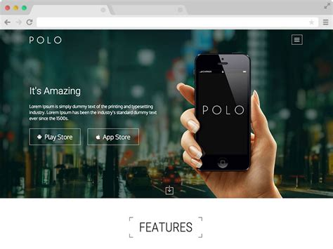 polo responsive app landing page template  bootstrap