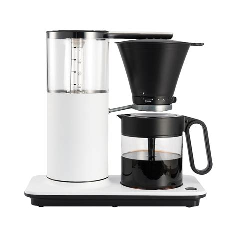 Water flows through an overhead sprayer and reaches. Wilfa Classic+ Coffee Maker - White