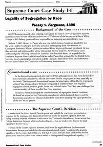 Plessy v Ferguson - Mrs. Lassiter's KHS Government Class