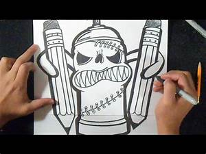 dessin bombe de peinture avec des crayons n 2 graffiti With bombe de peinture graffiti