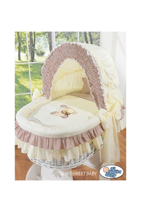 culle di vimini neonato vimini orsacchiotto beige