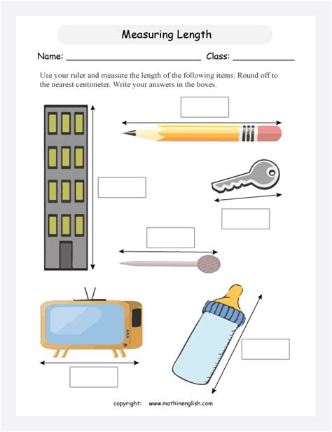 use your ruler and measure the length and height of the some items off to the nearest