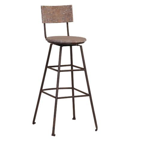 chaise de bar metal chaise de bar en bois recyclé et métal