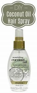 DIY Coconut Oil Hair Spray
