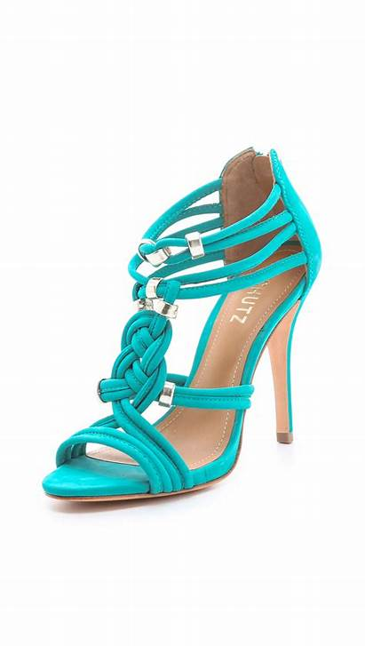 Sandals Schutz Suede India Braided Heels Shoes