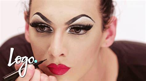 drag makeup tutorial violet chachki leather  lace runway  rupauls drag race logo