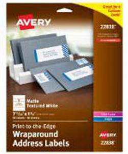 avery wraparound labels avery print to the edge wraparound labels