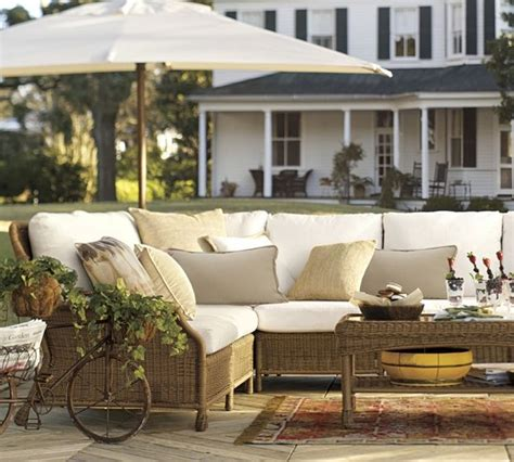 saybrook all weather wicker sectional components modern