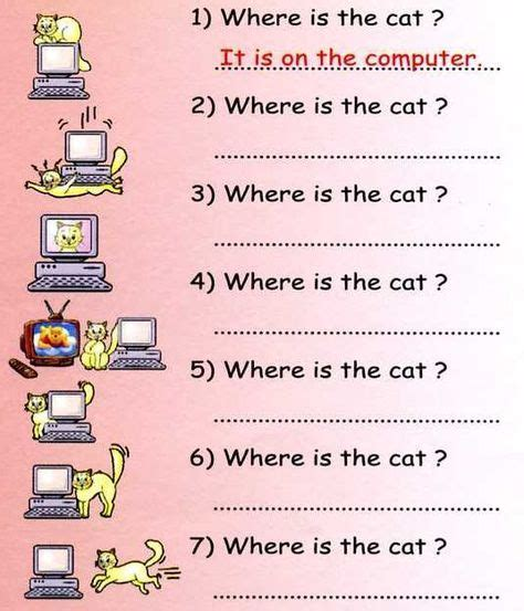 Prepositions Of Place Exercises With Pictures  Articles  Detailenglish  Kid's Time English