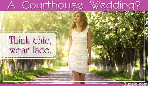 simple yet chic dresses to wear for a courthouse wedding