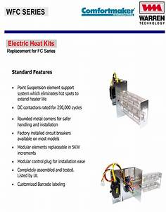8 Kw Heat Strip For Comfortmaker Air Handlers Fcv  Fcp