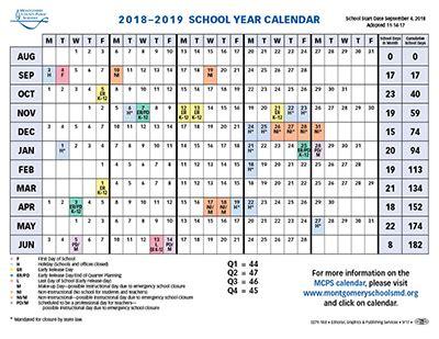 montgomery county public schools years calendar