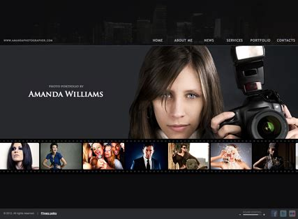 photographer html template  website templates