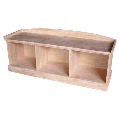 Unfinished Wooden Storage Bench  Home Furniture Design