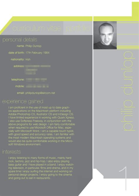3d Visualizer Resume by Artistic Resume
