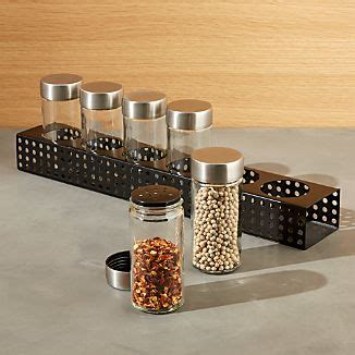 Salt And Pepper Spice Rack by Salt And Pepper Shakers And Mills Crate And Barrel