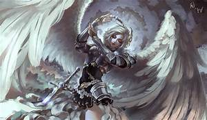 Fantasy, Art, Angel, Armor, Wings, Gray, Wallpapers, Hd, Desktop, And, Mobile, Backgrounds