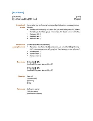 Resume And Cover Letter Template Microsoft Word by Resume Functional Design