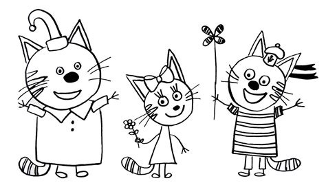 draw  cat coloring pages kids  cats coloring book