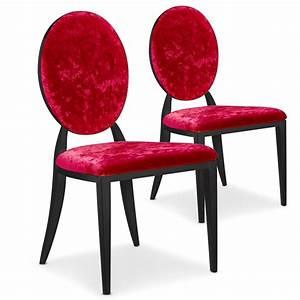Chaise Medaillon Blanche : chaise en velours medaillon ~ Teatrodelosmanantiales.com Idées de Décoration