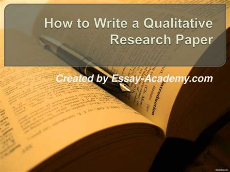 Academic papers in apa citation has general. How to write a qualitative research paper