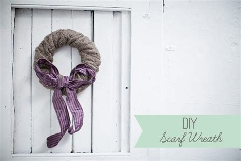 diy christmas wreath wool scarf christmas wreath tutorial