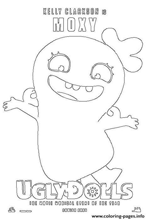 kelly clarkson  moxy uglydolls coloring pages printable