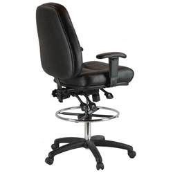 premium leather drafting chair with arms